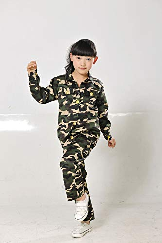 Jungen Soldat Kostüm Kinder Armee Anzug Suit Tarnuniform Kostüm Halloween Uniform Cosplay von ()