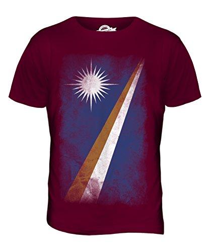 CandyMix Marshallinseln Verblichen Flagge Herren T Shirt Burgunderrot