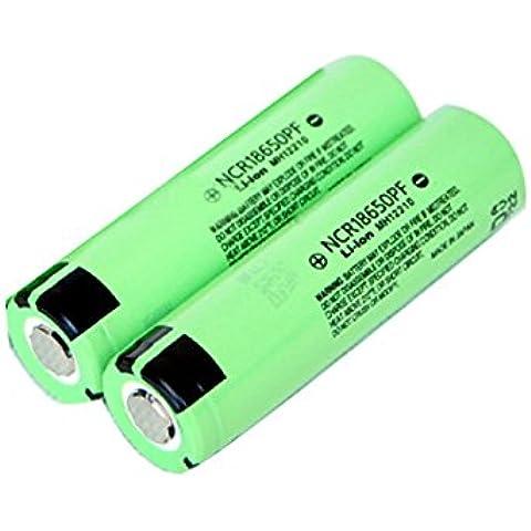 Bazaar 2pcs ncr 3.7v 18650pf 2900mAh batería de litio recargable