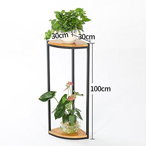 MMM& Style américain Sols en bois massif Armoires à fleurs Salon Balcon Escaliers Bac à fleurs multicouches Cadre en coin ( taille : 100cm )