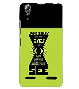 PrintDhaba Quote D-5484 Back Case Cover for LENOVO A6000 (Multi-Coloured)