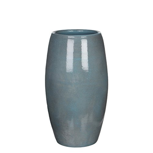Mica decorations Vase, Lester, blau, 30 x 30 x 50 cm, 1002892 (Große Keramik Vasen)