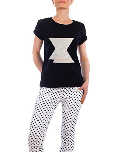 """Design T-Shirt Frauen Earth Positive """"Blush Triangles"""" - stylisches Shirt Abstrakt Geometrie von Paper Pixel Print Schwarz"""