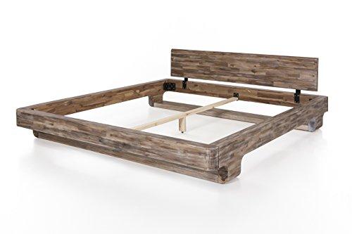 Woodkings® Bett 180x200 Mayfield Doppelbett Akazie rustic Schlafzimmer Massivholz Design Doppelbett massive Naturmöbel Echtholzmöbel günstig - 4