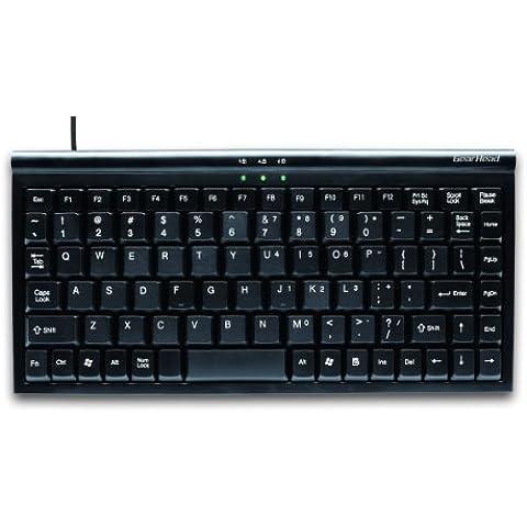 GearHead KB1700U USB Mini 89 Key Windows Keyboard - Black, [Importado de UK]