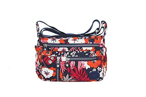 Borse Yy.f Nylon Sacchetto Del Messaggero Di Grande Capacità Ultraleggero Bag Telone Nuovo Turismo E Gli Uomini E Le Donne Messenger Bag Di Svago Multicolore D