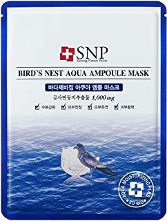 SNP Birds Nest Aqua Ampoule Mask 25ml*10pcs