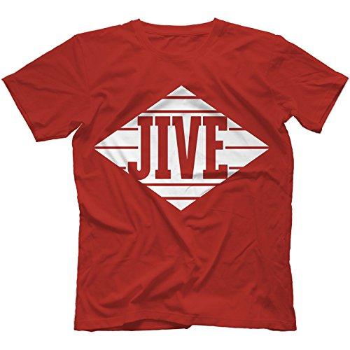 Jive Records T-Shirt in 13 Farben, Rot, X-Large