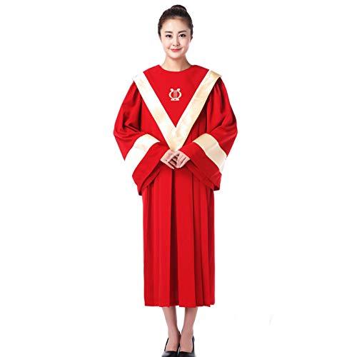 LIULIFE Ostern Choir Robe Christentum Kirchen Kleidung Festival Prozession Kostüm Kostüme Für Frauen Mädchen Erwachsene,Red-XL