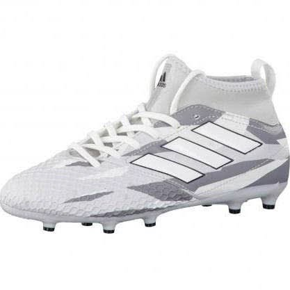 Ace 17.3 Primemesh Kids FG Football Boots - Clear Grey/White/Core Black - size 2 (Ace Schuhe 2)