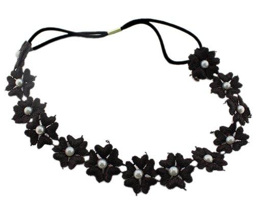 Perle Blumen Elastic Band Haarschmuck Haarreif Hairband Head band Hair Band Headband Für Lady Frauen Mädchen (Blume Hairband)