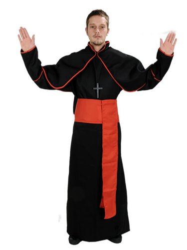 NEU PRIESTER KARDINAL SCHWARZ KOSTÜM KARNEVAL FASCHING (Kostüme Priester)