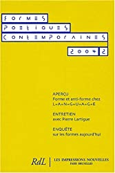 Formes Poétiques Contemporaines, N° 2/2004 :