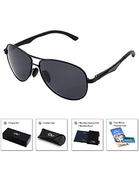 CGID GA61 Prima de aleación Al-Mg Pilot gafas de sol polarizadas UV400, bisagras de resorte duplicadas completas...