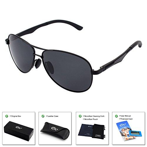CGID Polarisierte UV 400 Schutz Prämie Al MG Metall Rahmen Aviator Sonnenbrille Pilotenbrille Für Herren GA61