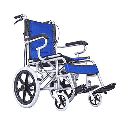 Wheelchair Folding lightweight wheelchair Elderly handicapped trolley Multi-functional travel wheelchair