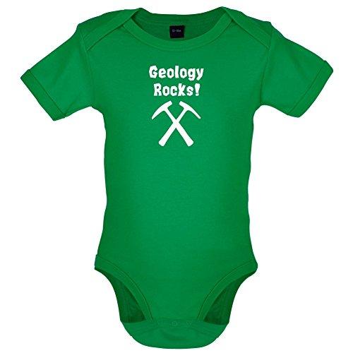 Geology Rocks - Lustiger Baby-Body - Leuchtend Grün - 6 bis 12 Monate - Grüne Erde Textilien
