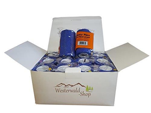12x blaue Haftbandagen Easy Flex VET Bandage selbsthaftend Schutzverband in blau (Elastische Flex)