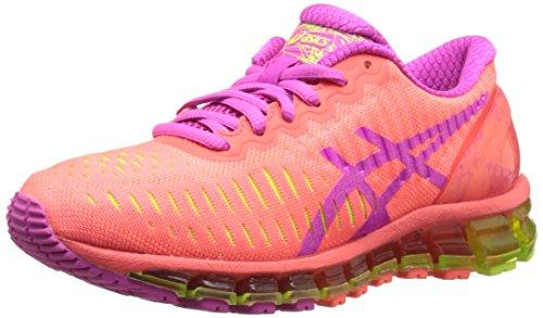 ASICS Damen Gel-Quantum 360-w, Rot (Flash Coral/Pink Glow/Flash Yellow), 39.5 EU -