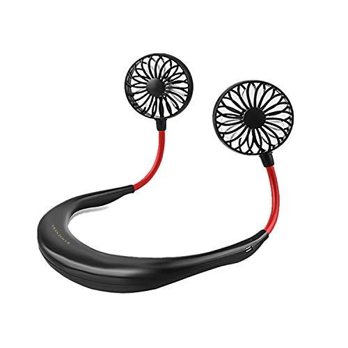 RANSENERS Ventilator, USB Mini Hals Ventilator, um die Hände frei zu halten, Frei die Richtung anzupassen, Geeignet zum Joggen, adfahren, Outdoor, Arbeiten, Reisen