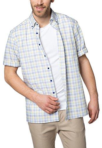 eterna Kurzarm Hemd Comfort Fit Oxford Kariert (Kurzarm-oxford-hemd Baumwolle)