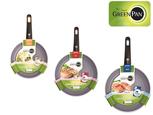 Foto de GreenPan sartén conjunto / aluminio antiadherente sartenes con revestimiento Thermolon / Ø 20, 26, 28 cm/apto para cada tipo de placa de cocción incluyendo horno e inducción / lavavajillas seguro
