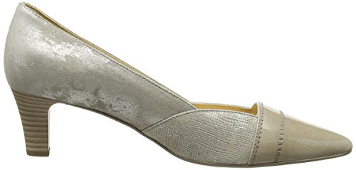Gabor Amberly Damen Pumps Beige (Beige Metallic Leather/Beige Patent)