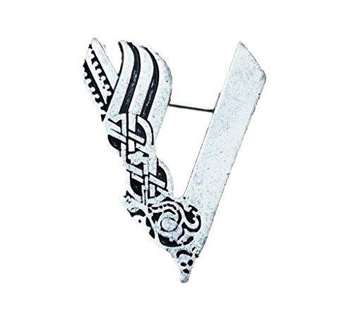 Vikingo Ragnar Lodbrok Silver Tone Odin vikingo Broche / Pin