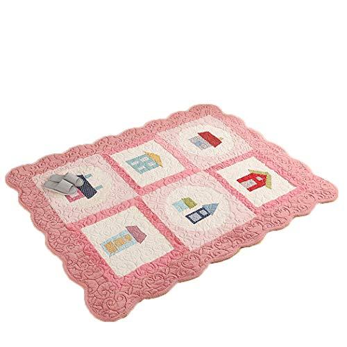 W&HH SHOP Koreanische Baby Krabbeldecke Kinderzimmer Teppich Matte Wohnzimmer Matte Nähte Gesteppte Wildledermatte