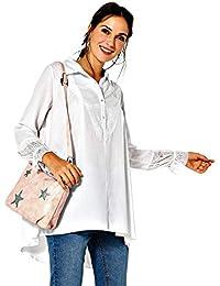 c9ae5450e4fd6 VENCA Blusa Encaje en el canesú y puño Mujer by Vencastyle - 024331