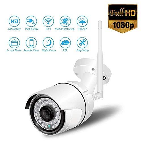 XINCH-MONITOR 1080P Outdoor WiFi IP Kamera Nachtsicht Home Security Wireless Surveillance IP66 Wasserdicht mit 2-Wege Audio Remote Motion Detect Alarm, für Kind/Haustier/Älteste