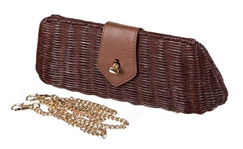 Dancing Days Vintage CLUTCH BAG 50s Wicker Bag / Bast Tasche Rockabilly -