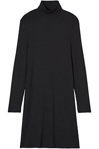 FIND Damen Kleid Schwarz (Black)
