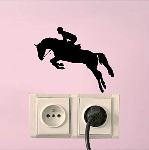 Chi Wall Sticker 3 Stücke Pferd Sport Springen Schlafzimmer Wandaufkleber Vinyl Licht Siwtch Aufkleber -