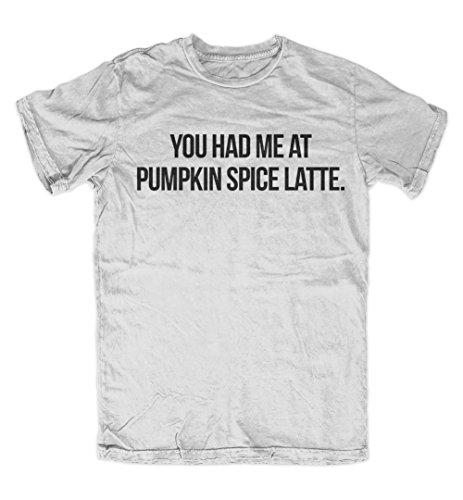 You Had Me At Pumpkin Spice Latte Komisch Herren T-Shirt Grau XX-Large Monin Pumpkin Spice