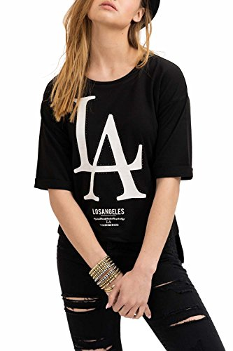 trueprodigy Casual Damen Marken Sweatshirt mit Aufdruck, Oberteil cool und stylisch mit Rundhals Ausschnitt (Halbarm & Slim Fit), Sweatshirt...