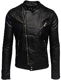 ArizonaShopping - Jacken Herren Leder Jacke Biker Übergangsjacke  Asymmetrisch H1533 0be41fe406