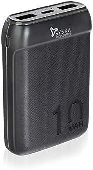 Syska 10000 mAh Li-Polymer P1016B Power Pocket100 Power Bank(Black)