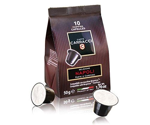 Caffè Carracci 100 cialde capsule compatibili Nespresso miscela Napoli