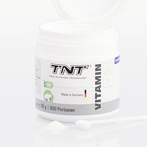 Vitamin D3 Hochdosiert | Vitamin-Pulver als Nahrungsergänzung für Alltag, Sport, Fitness & Bodybuilding | Immunsystem stärken | TNT Premium Qualität aus Deutschland – 90g - 5