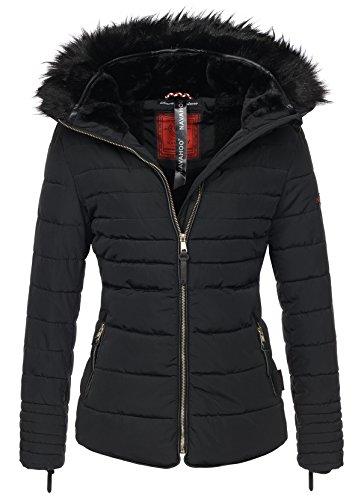 Navahoo Damen Winter Jacke Steppjacke Parka Winter Mantel warm gefüttert B351