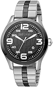 Just Cavalli Young Men's Black Dial Stainless Steel Analog Watch - JC1G108M