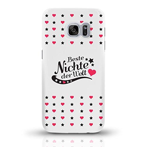 """JUNIWORDS Handyhüllen Slim Case für Samsung Galaxy S7 mit Schriftzug """"Beste Nichte der Welt"""" - ideales Weihnachtsgeschenk für die Nichte - Motiv 3 - Handyhülle, Handycase, Handyschale, Schutzhülle für motiv 4"""