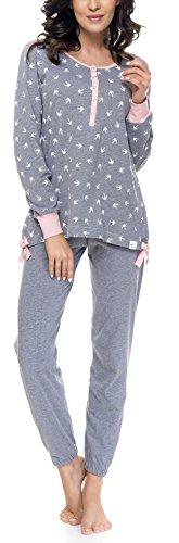 DN Schlafanzug PM.9103 Dark Grey-P Gr. XL