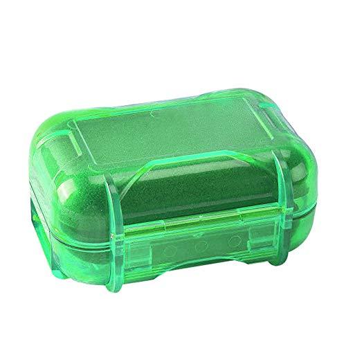 kopfhörer Tasche tragbare aufbewahrungsbox für kopfhörer,2 Stücke Wasserdichte Aufbewahrungskoffer Halter Für Hörgeräte Kopfhörer Kabel Kopfhörer Robustes Hardcase, Ohrstöpsel Schutztasche (Green)