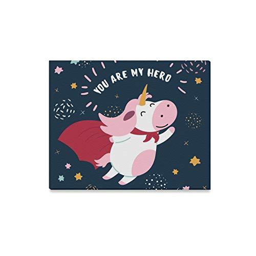 QuqUshop Wandkunst Malerei Rosa Weiß Nette Kuh Superheld Kostüm Drucke Auf Leinwand Das Bild Landschaft Bilder Öl Für Zuhause Moderne Dekoration Druck Dekor Für - Kuh Kostüm Niedlich