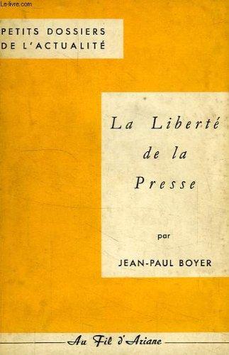 La liberte de la presse