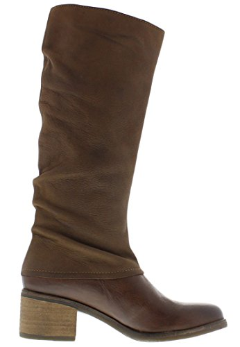 Fly London ABA Damen Langschaft Stiefel Tan