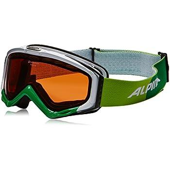 Alpina Erwachsene Skibrille Turbo GT, weiß-grün, One size, 7053014