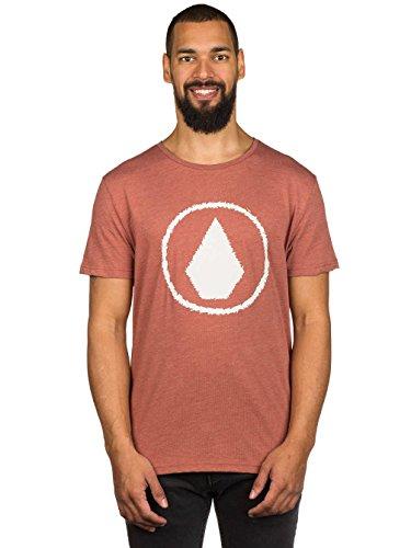 Herren T-Shirt Volcom Jag Heather T-Shirt dark clay